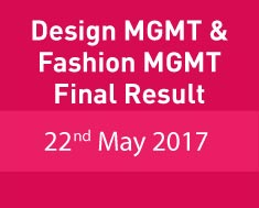 Design MGTM & Fashion MGMT final result 2017-18